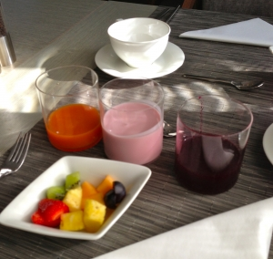Beetroot Juice and homemade yogurt