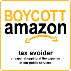 amazon boycott square with outline
