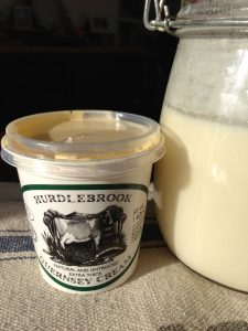 Raw Guernsey Cream with homemade Kefir