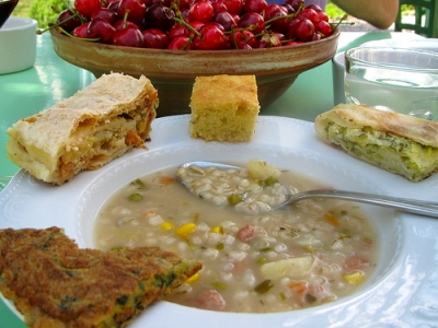 Slovenian Soup with additional support! Photo Kimberley Hartke