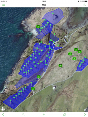 Map of Paddocks for HM managed cattle